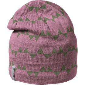 Isbjörn Hawk Bonnet en maille tricotée Enfant, rose/gris